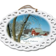 David Paukert Frosted Morn North Dakota ornament