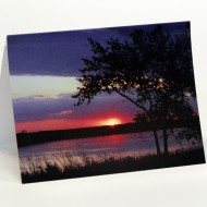 sunset note card web white